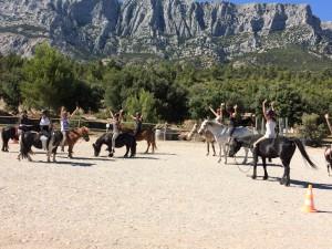 Ecole d'équitation en Provence au Clos Sainte Victoire